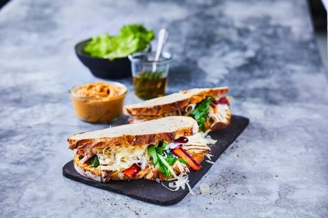 Sandwich fra køkkenhaven