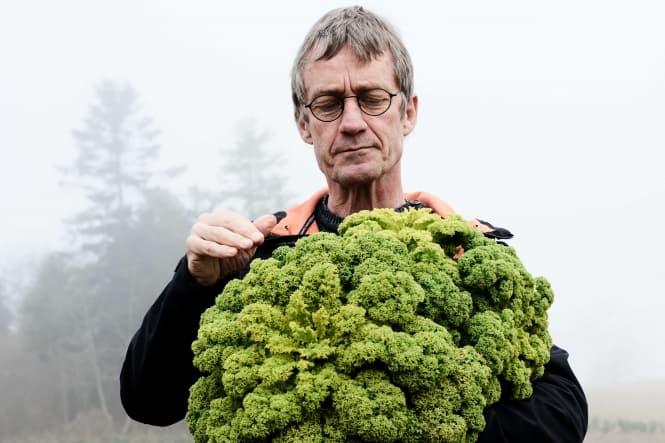 En mand med et grønt fokus