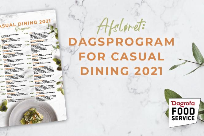 Program for Casual Dining er offentliggjort